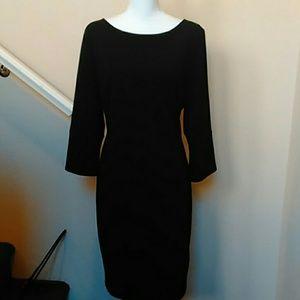 NWOT Black Calvin Klein Knit Sheath Dress 14